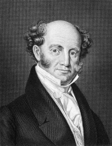 Martin Van Buren (1782-1862) on engraving from 1859. 8th President of the United States during 1837-1841. Engraved by unknown artist and published in Meyers Konversations-Lexikon, Germany, 1859.